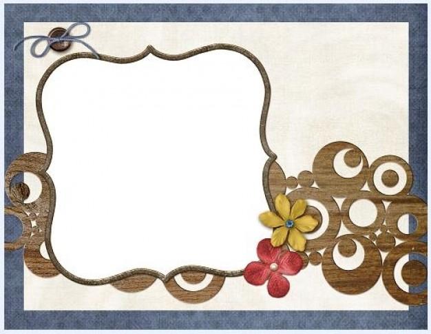 cadre personnalisé avec collage de papier de soie