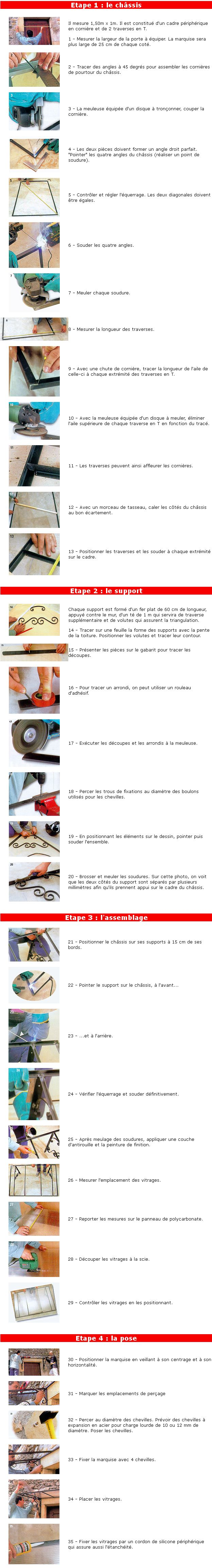 Comment fabriquer une marquise en fer rampe duescalier - Monte sur une marquise ...