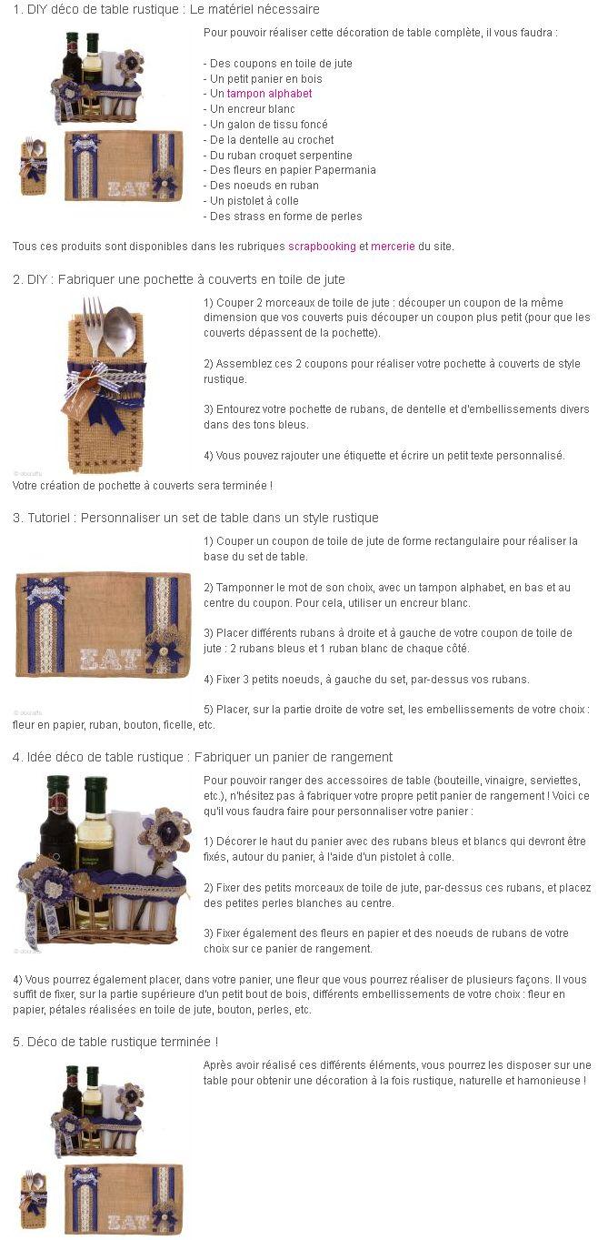 décoration table rustique