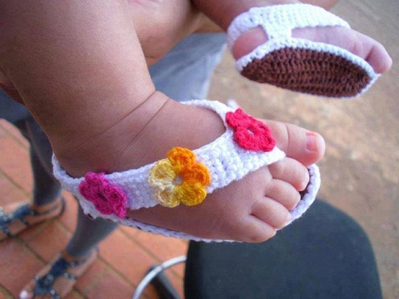 sandales tricotés