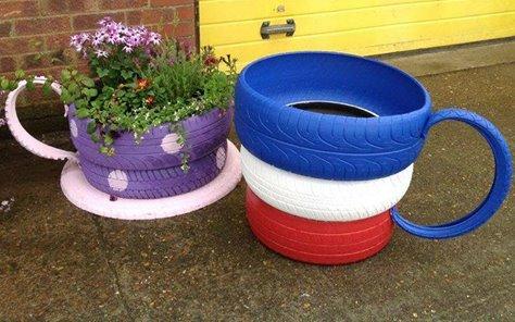 Les pneus au jardin! - Astuces Bricolage