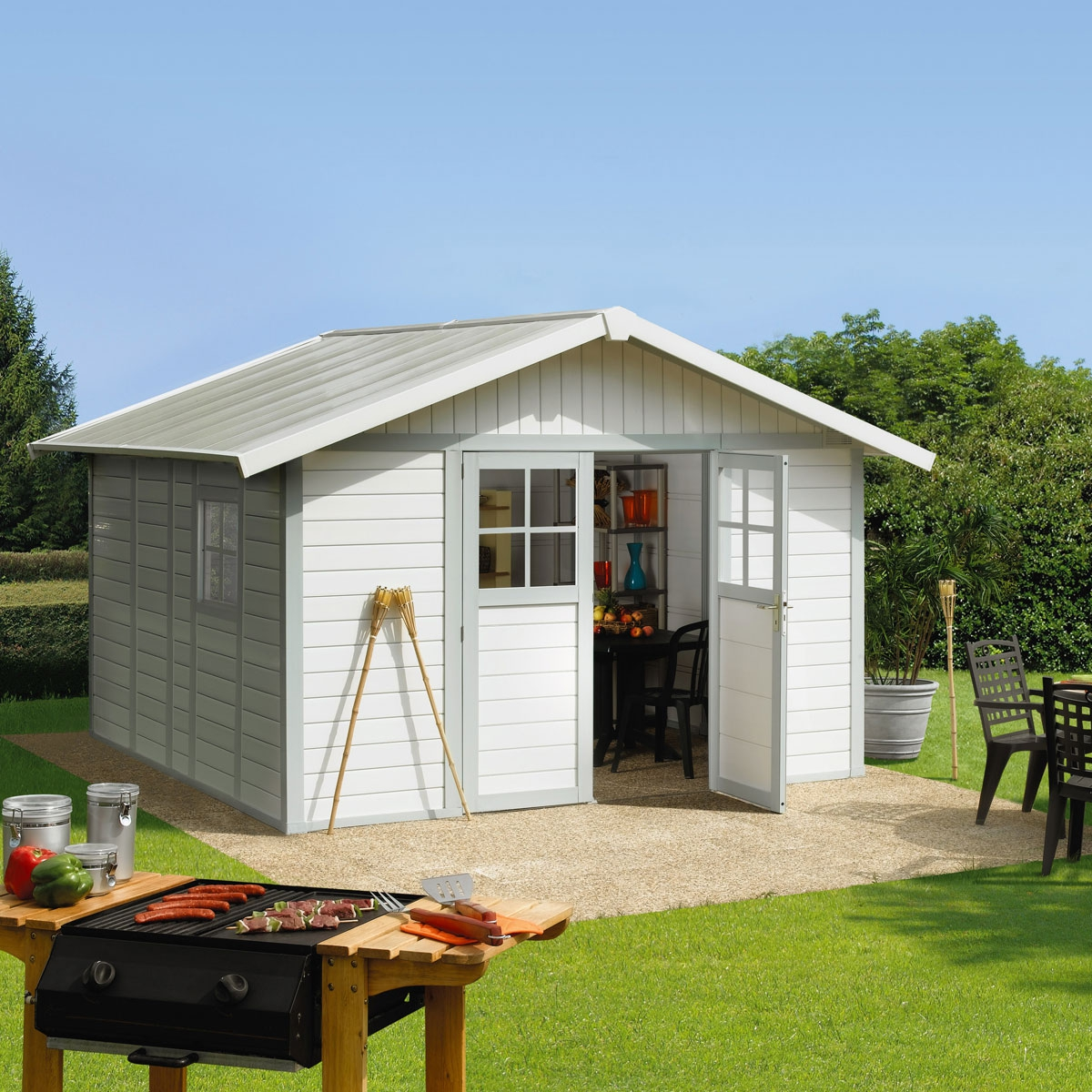 le choix d 39 un abri de jardin bricolage maison. Black Bedroom Furniture Sets. Home Design Ideas