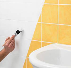 repeindre faience salle de bain. peinture carrelage blanc on ... - Peindre Des Carreaux De Faience Salle De Bain