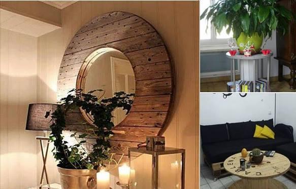 10 Idées récup de touret pour le décor! - Bricolage maison