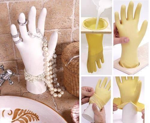 un gant et du plâtre je vais essayer