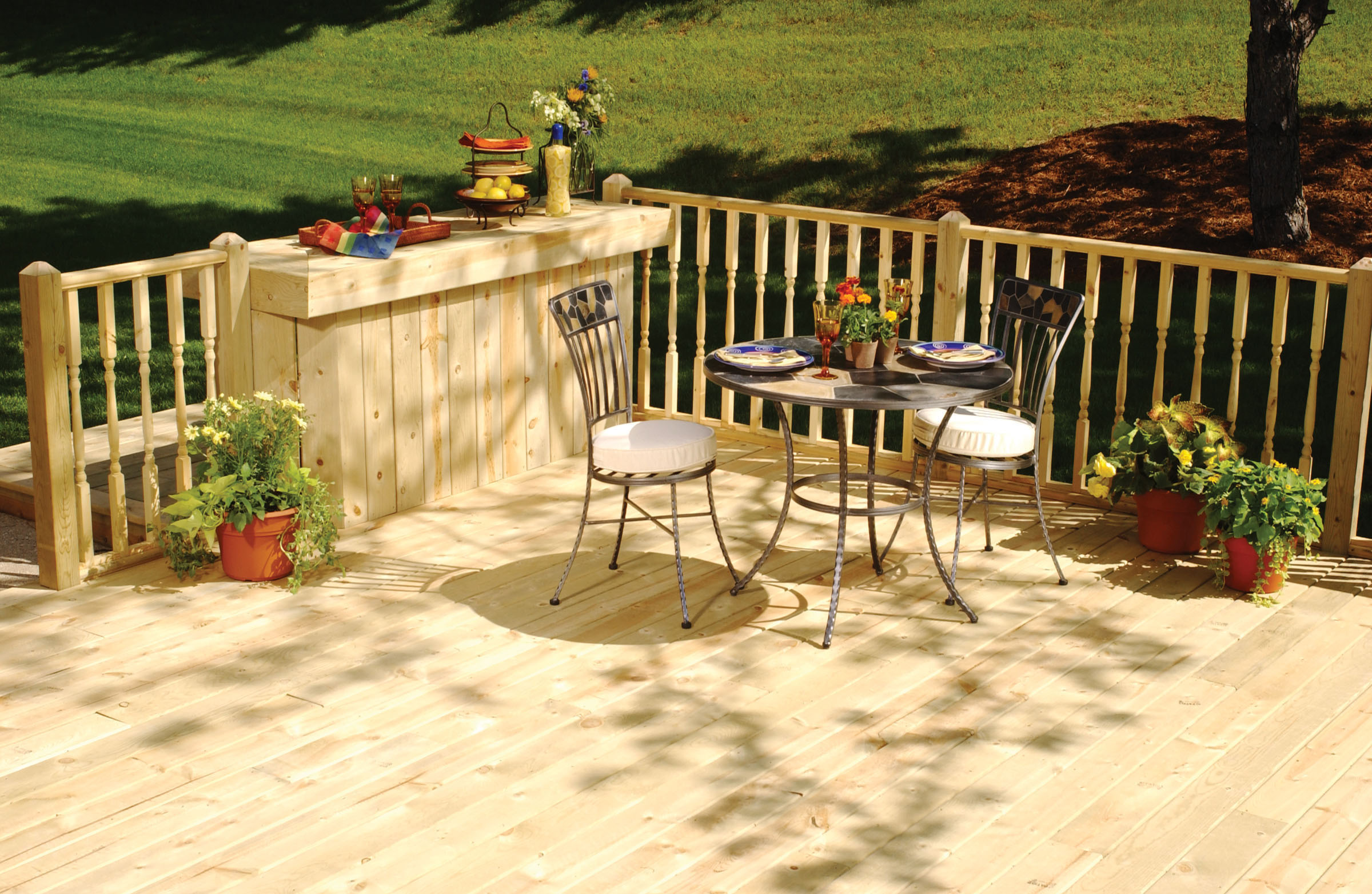 Patio Deck Art Designs New 2016 Contemporain Terre En Bois
