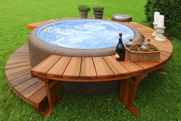 construire une piscine hors sol en bois astuces bricolage piscine pas cher bois - Piscine Bois Solde
