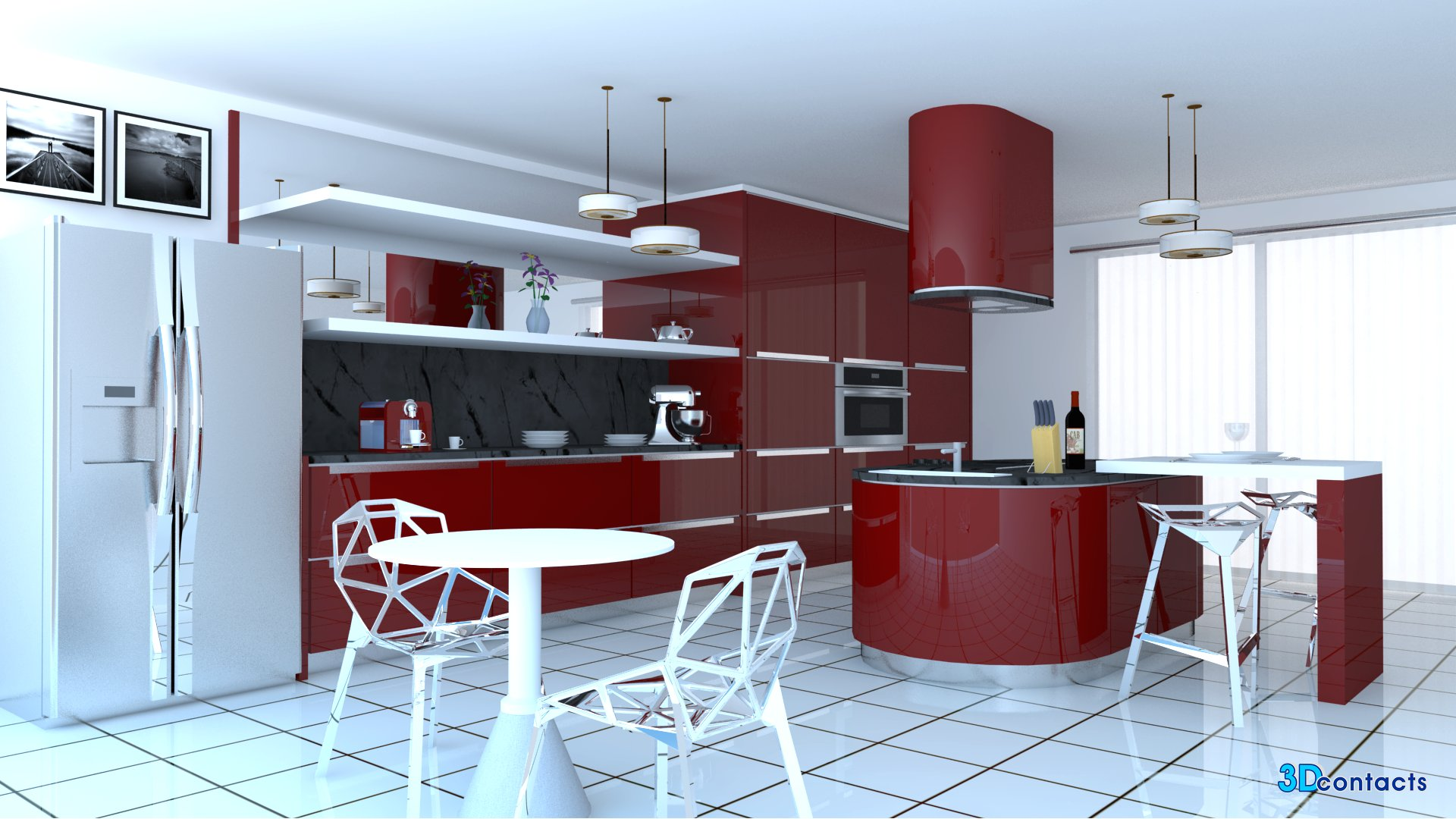 Modele cuisine moderne for Decoration de cuisine moderne 2015