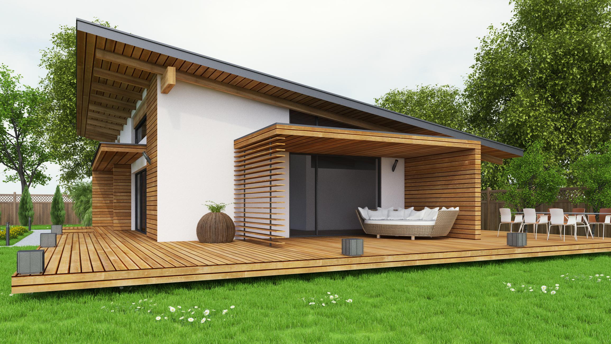 Maison ossature bois et rev tement astuces bricolage for Agrandissement maison ossature bois kit