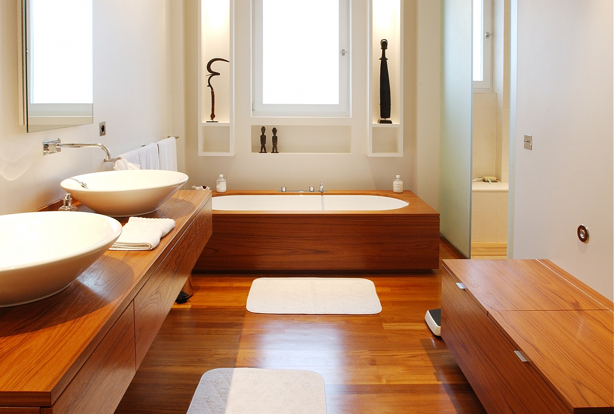 et pourquoi pas une salle de bain en bois ? - astuces bricolage - Salle De Bain Moderne Bois