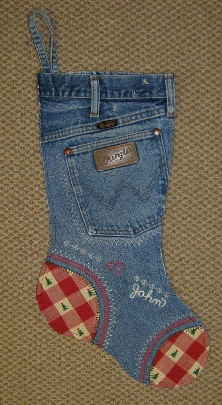 jeans chaussette de noel