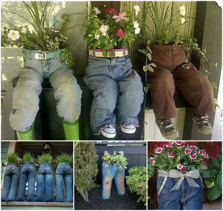jeans objet decoratif