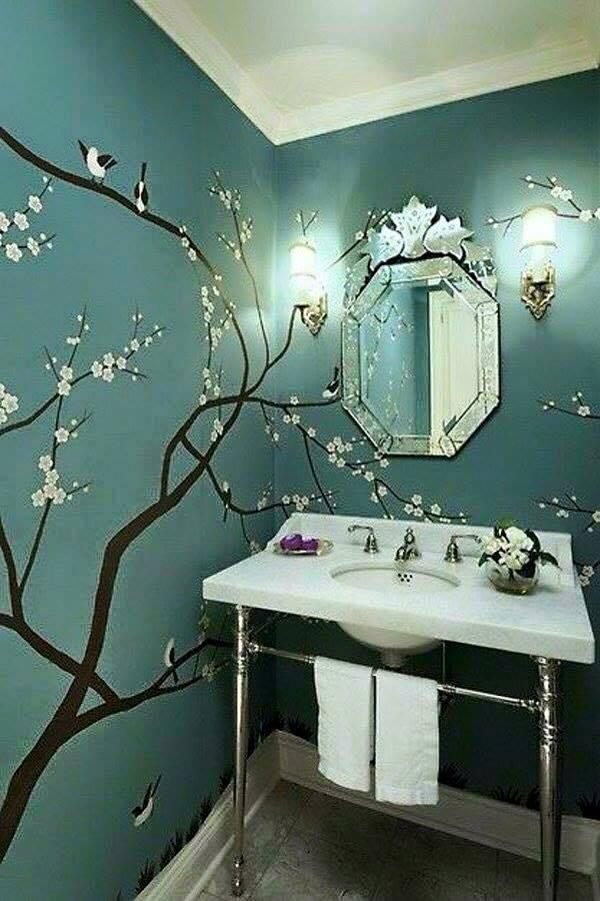 Collection des plus belles d corations au pochoir for Decoration porte au pochoir