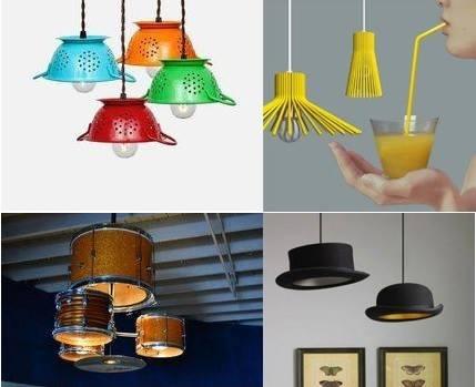 10 id es de cr ation de lustre avec de la r cup 39 astuces bricolage. Black Bedroom Furniture Sets. Home Design Ideas