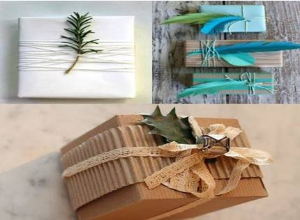 emballage de cadeau avec de la r cup 39 astuces bricolage. Black Bedroom Furniture Sets. Home Design Ideas