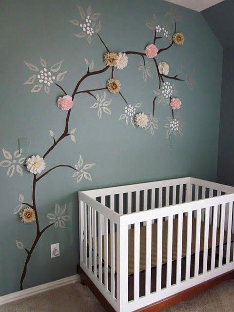 Mod les de d coration murale pour chambre de b b astuces bricolage - Modele de chambre bebe ...