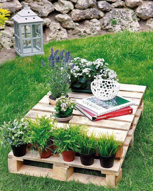 Collection de salons de jardin en palettes astuces - Astuce bricolage jardin ...