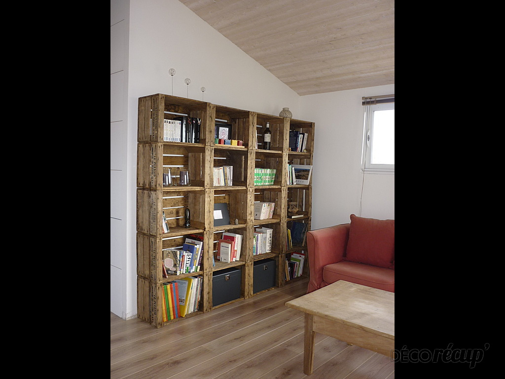 création de bibliothèque avec de la récupération! - bricolage maison