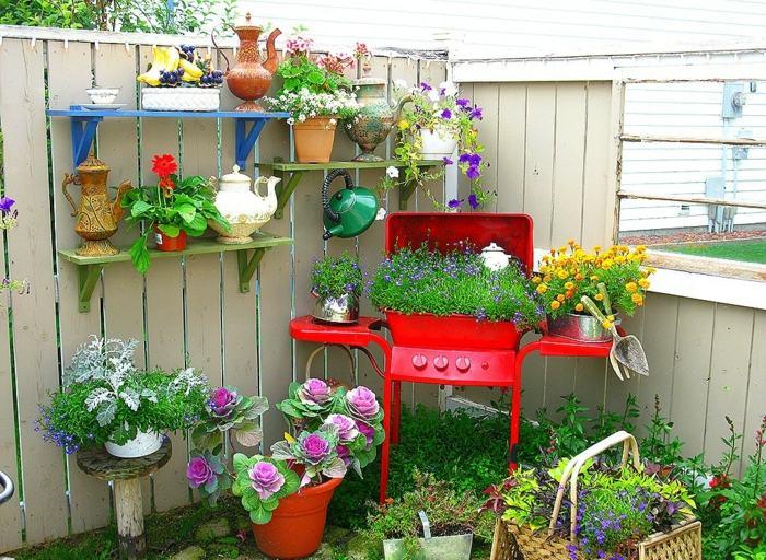Décoration de jardin avec de la récupération! - Astuces Bricolage