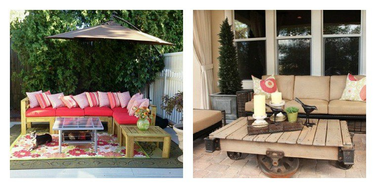 Collection de salons de jardin en palettes astuces for Element decoration salon