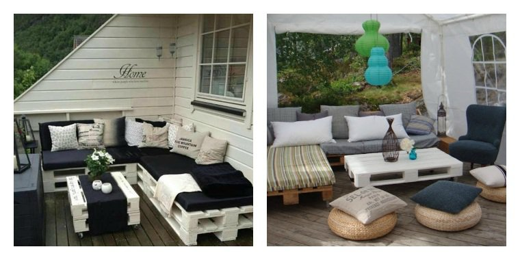 collection de salons de jardin en palettes astuces bricolage. Black Bedroom Furniture Sets. Home Design Ideas