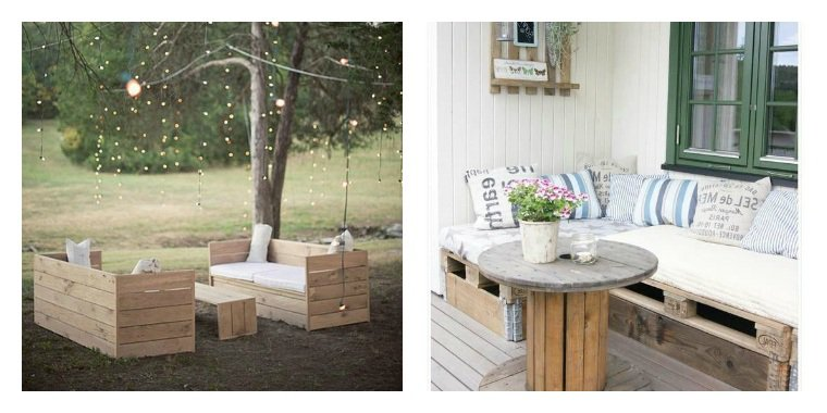 collection de salons de jardin en palettes astuces. Black Bedroom Furniture Sets. Home Design Ideas