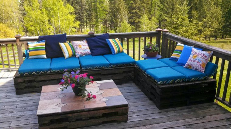 collection de salons de jardin en palettes bricolage. Black Bedroom Furniture Sets. Home Design Ideas
