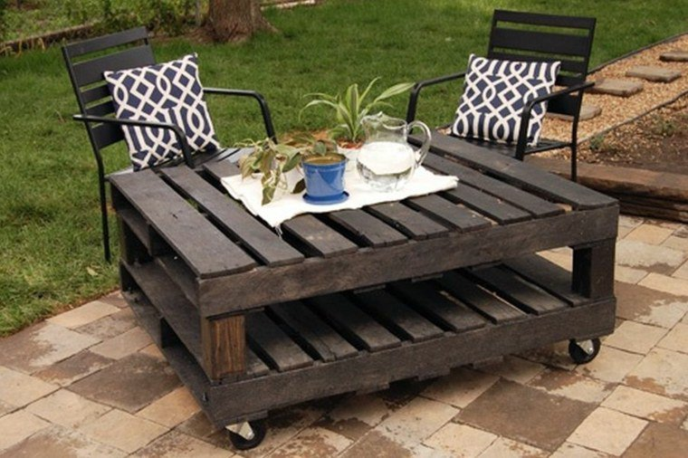 Awesome Table Et Chaise De Jardin Palette Contemporary - Awesome ...