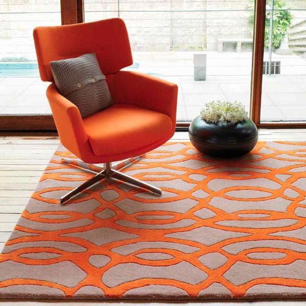 Mobilier design contemporain un int rieur en harmonie avec votre style de v - Tapis gris et orange ...