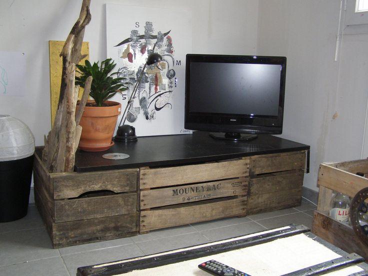 collection de table de t l avec des palettes astuces. Black Bedroom Furniture Sets. Home Design Ideas