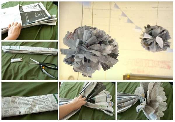 Cr ations avec des journaux astuces bricolage - Bricolage avec du papier ...