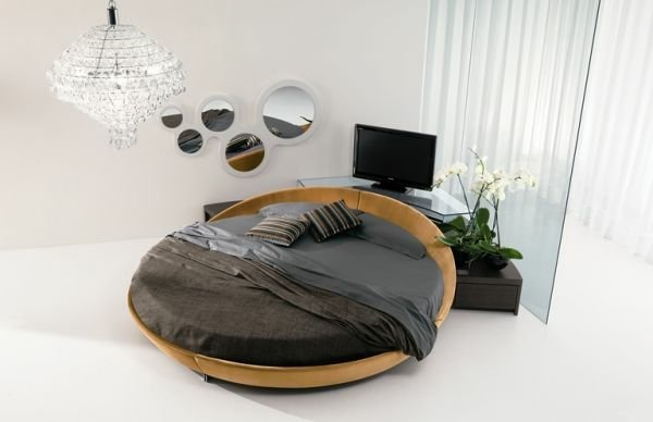 lit rond en bois moderne et design pour transformer. Black Bedroom Furniture Sets. Home Design Ideas