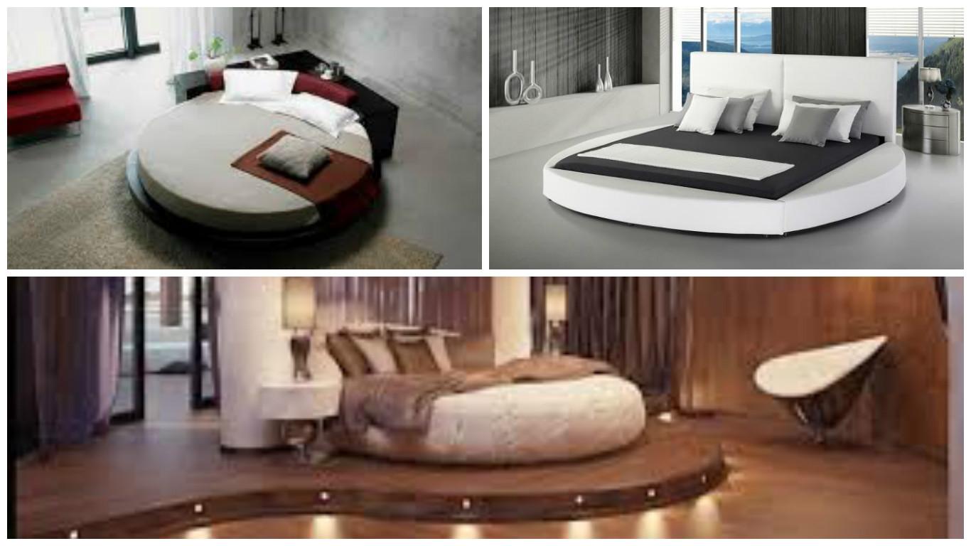 Grand Lit Rond, En Bois, Moderne Et Design Pour Transformer Votre Chambre En  Havre De Bien être   Bricolage Maison