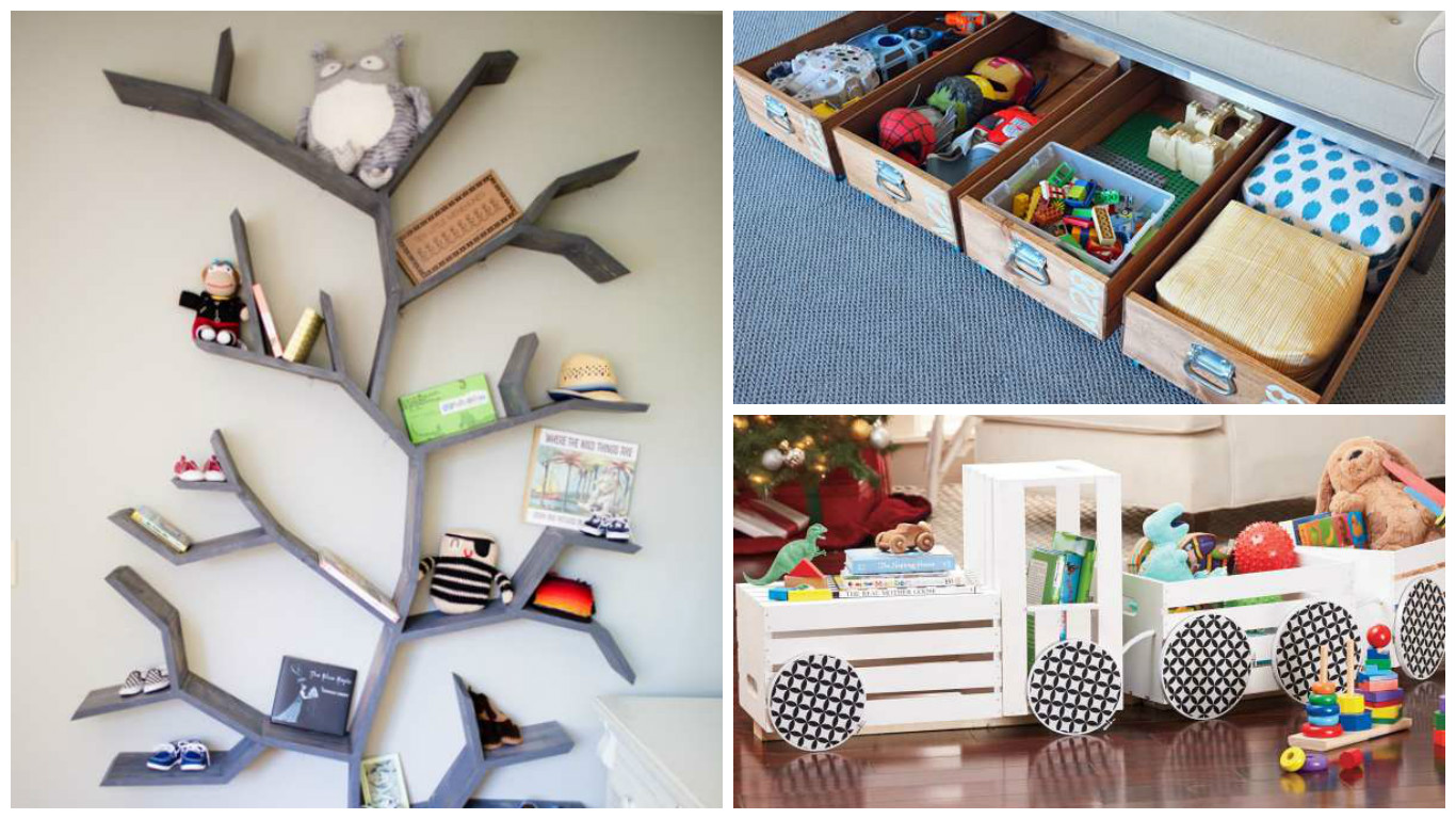 id es de rangement dans la chambre des enfants astuces bricolage. Black Bedroom Furniture Sets. Home Design Ideas