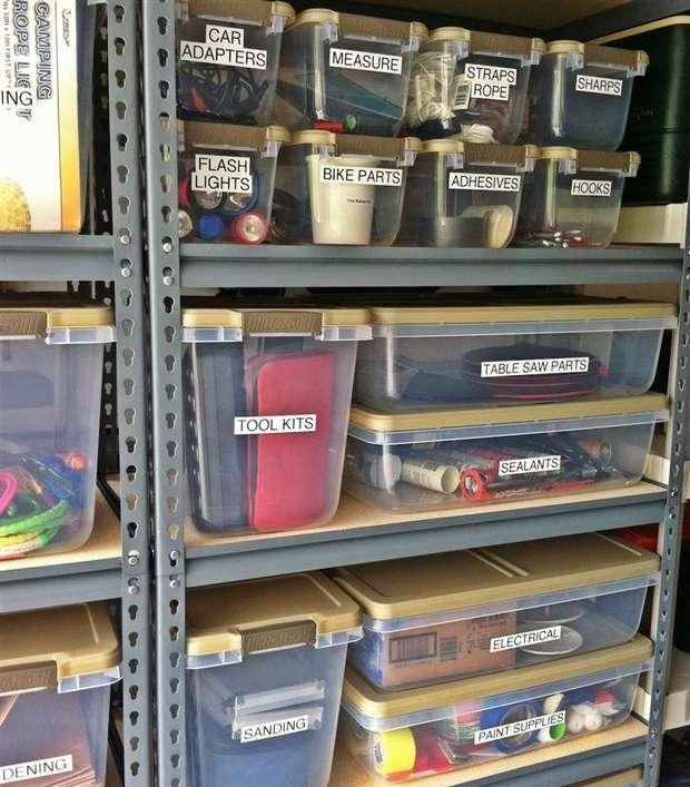 Astuces rangements dans le garage astuces bricolage - Astuce rangement garage ...