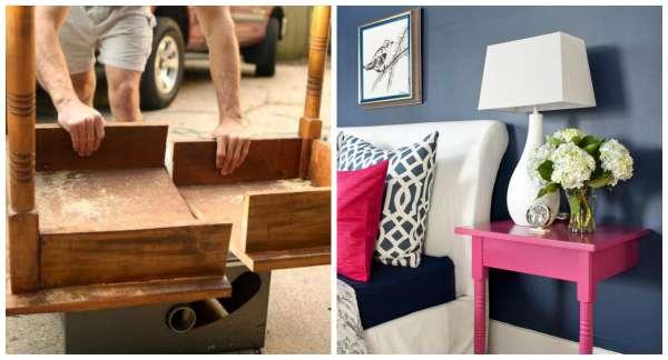 id es de r cup ration de vieux meubles poustouflant. Black Bedroom Furniture Sets. Home Design Ideas