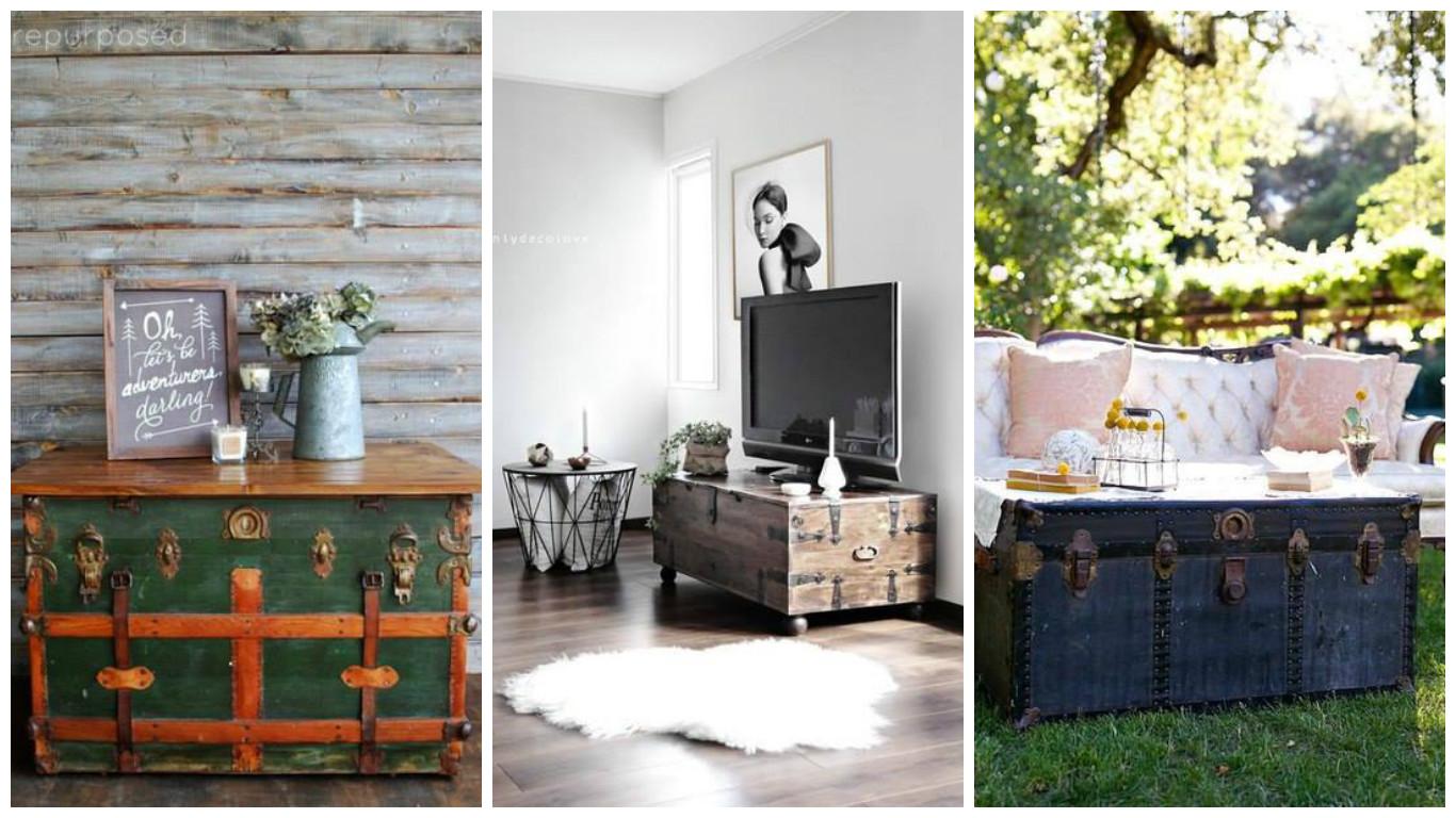 Transformez un vieux coffre en un joli meuble de for Transformer un vieux meuble
