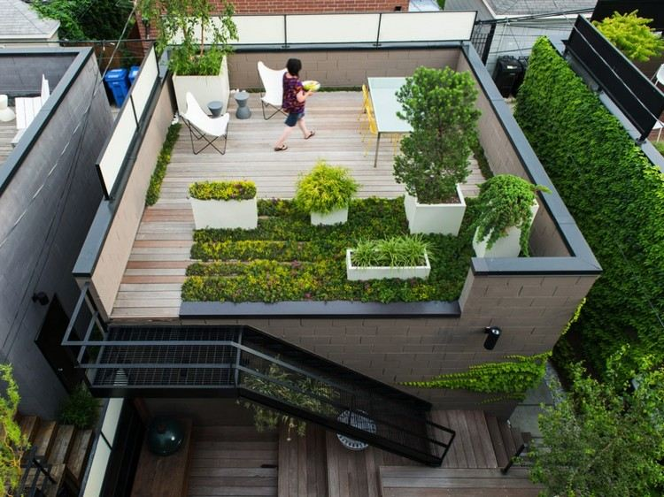 Un jardin sur le toit pourquoi pas astuces bricolage - Rooftop terrace beautiful and fresh rooftop decorating ideas ...
