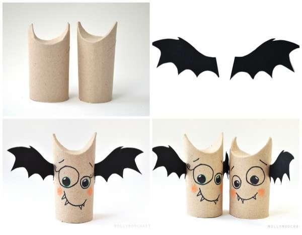 d coration faire pour halloween avec des rouleaux de papiers toilettes astuces bricolage. Black Bedroom Furniture Sets. Home Design Ideas