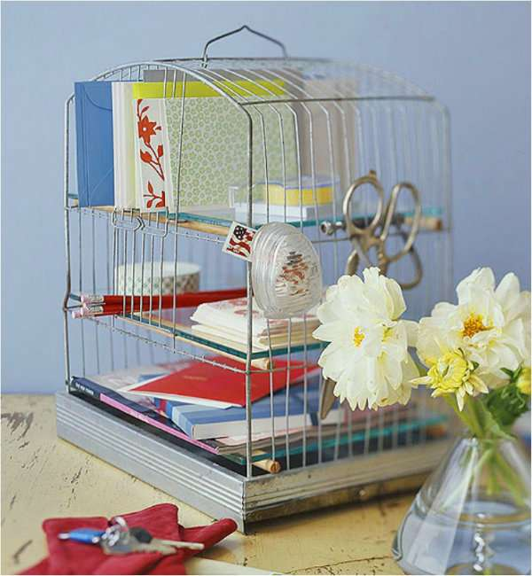 15 id es cr atives r aliser avec une cage d 39 oiseaux astuces bricolage. Black Bedroom Furniture Sets. Home Design Ideas