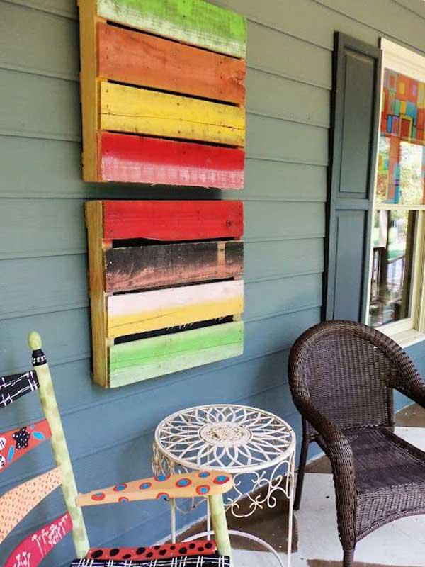 d coration murale avec des palettes astuces bricolage. Black Bedroom Furniture Sets. Home Design Ideas