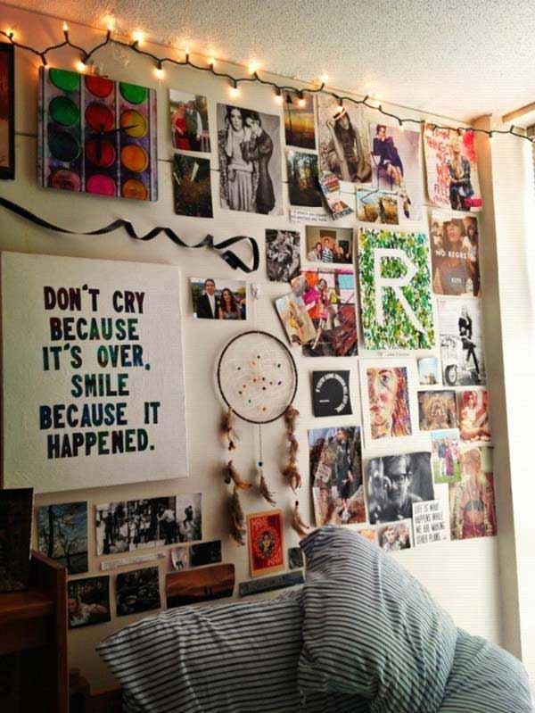 23 mod les pour une disposition originale de vos photos sur le mur astuces bricolage. Black Bedroom Furniture Sets. Home Design Ideas