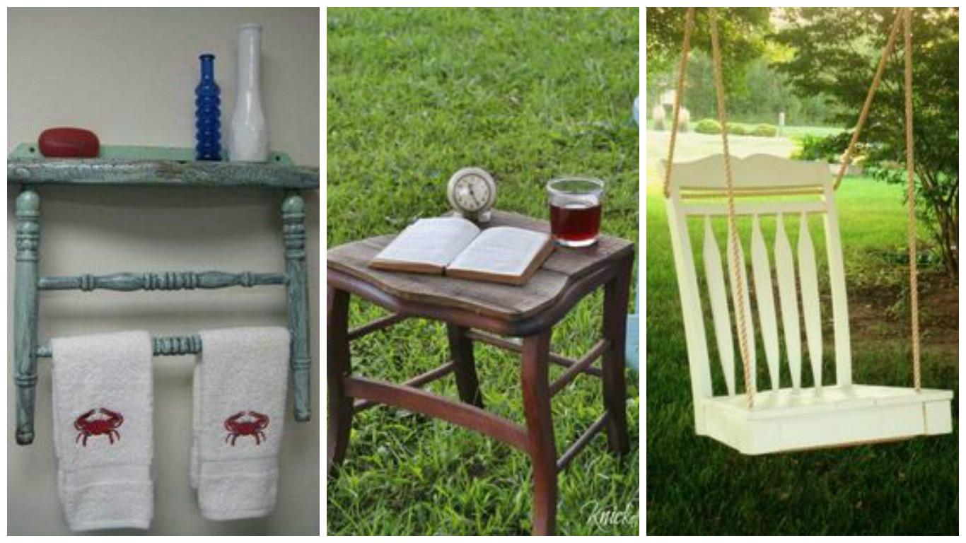 des id es pour le recyclage de vieilles chaises astuces bricolage. Black Bedroom Furniture Sets. Home Design Ideas