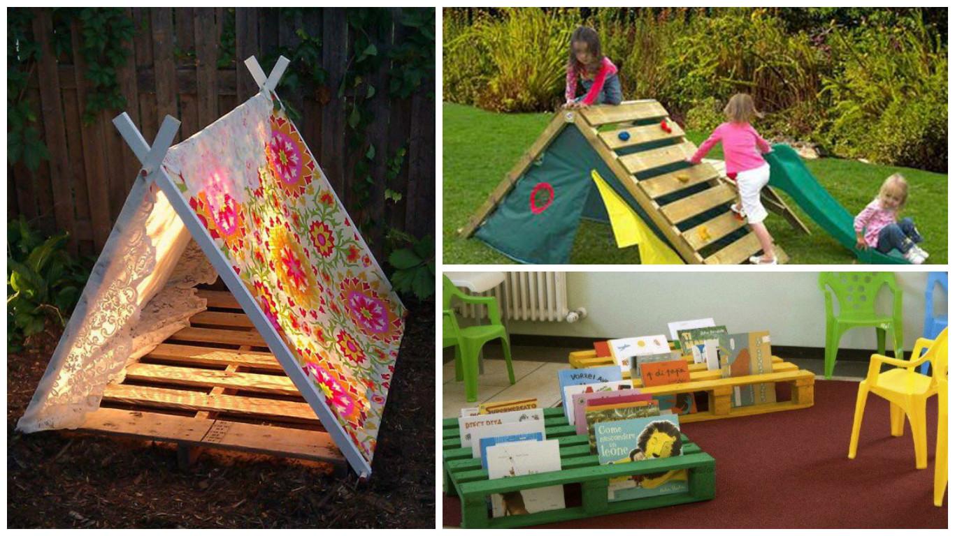 recyclage de palettes pour le bonheur des enfants astuces bricolage. Black Bedroom Furniture Sets. Home Design Ideas