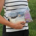 D.I.Y: Création d'une pochette transparente pour l'été!