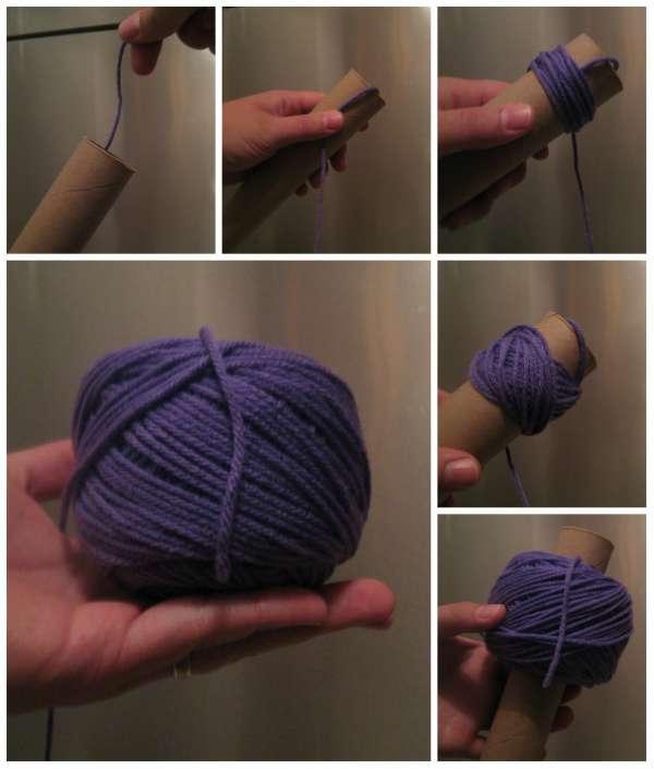 Rembobiner des fils de laine en pelotes