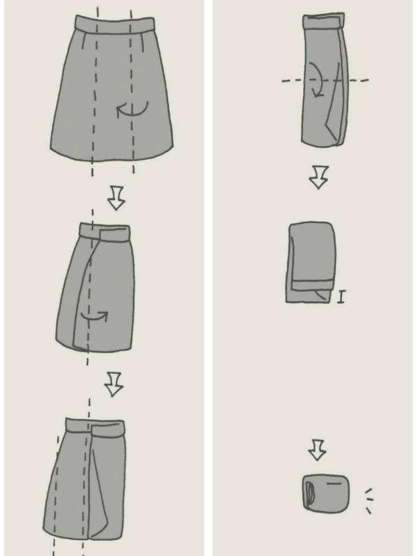 plier les vêtements