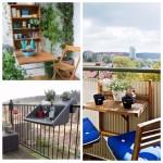 Des tables originales pour le gain d'espace dans le balcon!