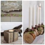 Créez vous-mêmes des bougeoirs avec du bois!