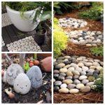 Des idées de décoration de jardin avec des galets!